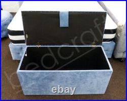 UPHOLSTERED OTTOMAN STORAGE BOX Toybox / Blanket Box, Customise Size & Fabric