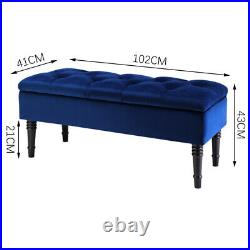 Upholstered Bedroom Bench withStorage Window Seat Toy Box Footstool Ottoman Fabric