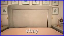 Upholstered Storage Bed with Mattress, Ottoman King Size UK, Silver, Grey Velvet