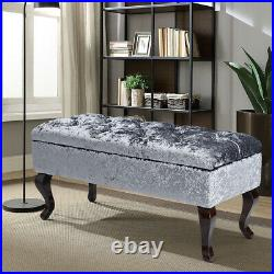 Upholstered Storage Bench Bed End Hallway Window Piano Seat 2-3 Seater Ottoman