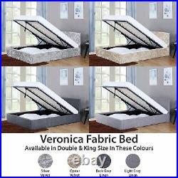 Veronica 5FT 4FT6 Double King Size Ottoman Bed Frame Storage Fabric Velvet Linen