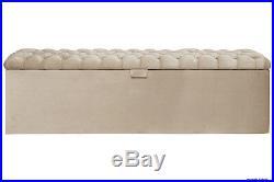 Viscount Velvet Chesterfield Buttoned Upholstered Storage chest Ottoman bedroom