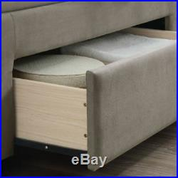 Woodbury Velvet Fabric 4 Drawer Storage Bed with Mattress, Size, Colour Options