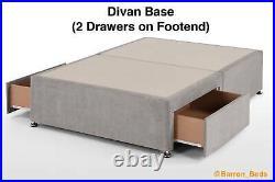 Zoya Grandeur Wingback Bed Divan Ottoman Storage Gas Lift Upholstered Sleigh